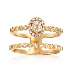 .40 ct. t.w. Diamond Illusion Two-Row Ring in 14kt Yellow Gold, , default