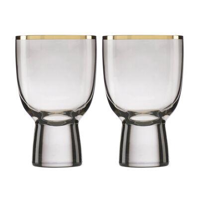 Trianna Slate 2-Piece Wine Glassware Set, , default