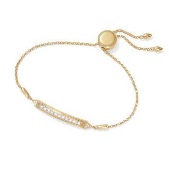 .51 ct. t.w. Diamond Bar Bolo Bracelet in 14kt Yellow Gold , , default