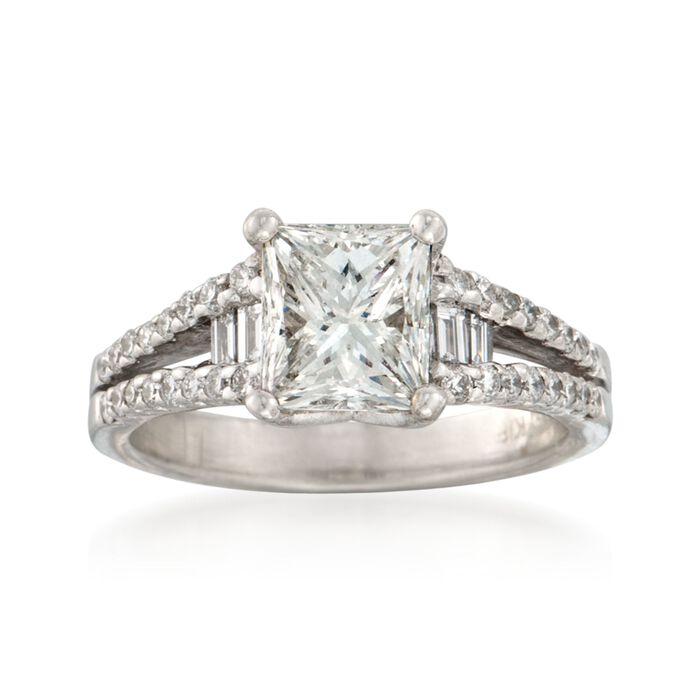 2.47 ct. t.w. Certified Diamond Engagement Ring in 18kt White Gold, , default