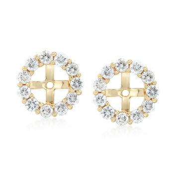 1.50 ct. t.w. Diamond Earring Jackets in 14kt Yellow Gold, , default