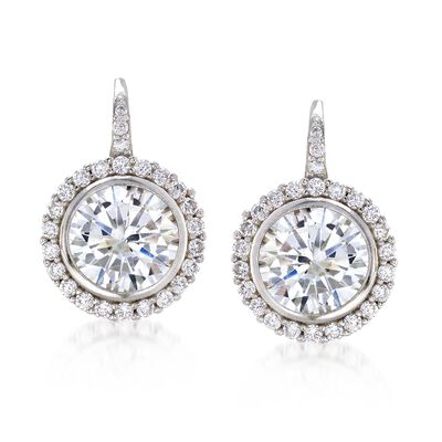 4.94 ct. t.w. CZ Drop Earrings in Sterling Silver