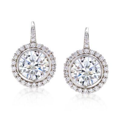 4.94 ct. t.w. CZ Drop Earrings in Sterling Silver