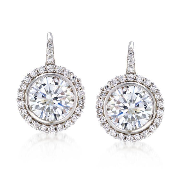 4.94 ct. t.w. CZ Drop Earrings in Sterling Silver , , default