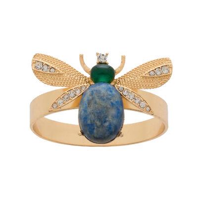 Joanna Buchanan Set of 4 Lapis Etched-Wing Bug Napkin Rings