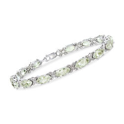 18.00 ct. t.w. Green Prasiolite Bracelet in Sterling Silver, , default