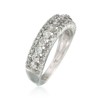 1.00 ct t.w. Diamond Vintage-Style Ring in 14kt White Gold, , default