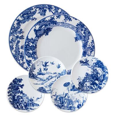 "Caskata ""Toile Tales"" Blue and White Porcelain Dinnerware, , default"