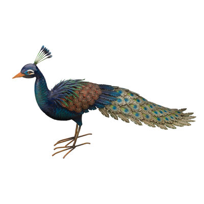 """Peacock Roamer"" Garden Decoration , , default"