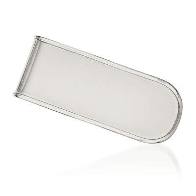 Sterling Silver Polished Engravable Money Clip, , default