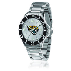 Men's 46mm NFL Jacksonville Jaguars Stainless Steel Key Watch, , default