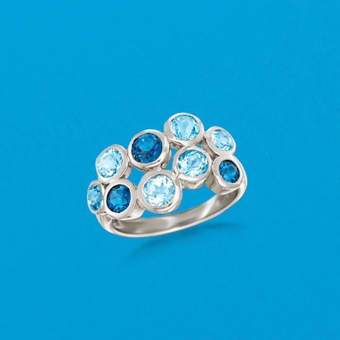 2.50 ct. t.w. Blue Topaz Bubble Ring in Sterling Silver