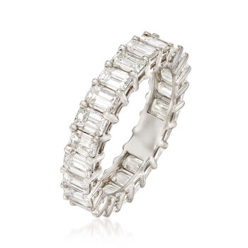 4.10 ct. t.w. Emerald-Cut Diamond Eternity Band in Platinum. Size 6, , default