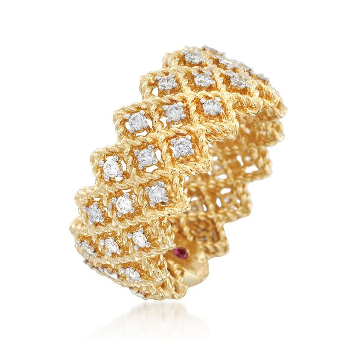"""Roberto Coin """"Barocco"""" .72 ct. t.w. Diamond Ring in 18kt Yellow Gold"""
