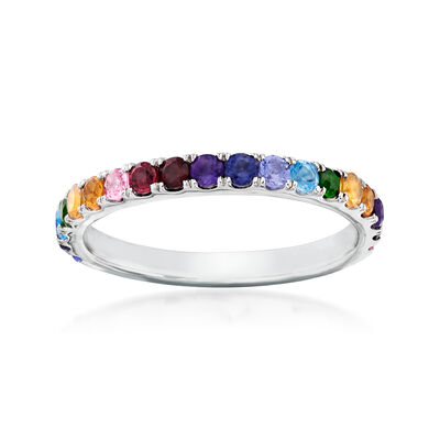 .64 ct. t.w. Multi-Gemstone Ring in Sterling Silver, , default