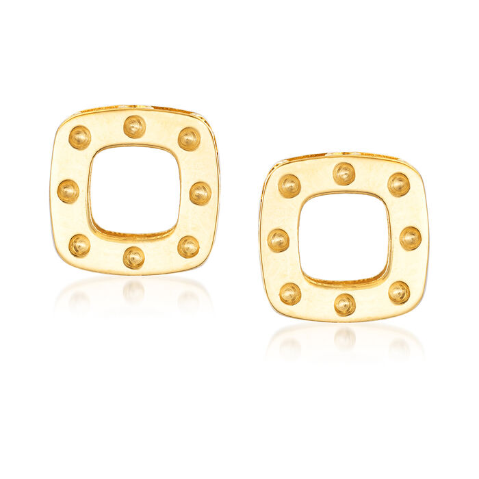 """Roberto Coin """"Pois Moi"""" 18kt Yellow Gold Square Earrings, , default"""