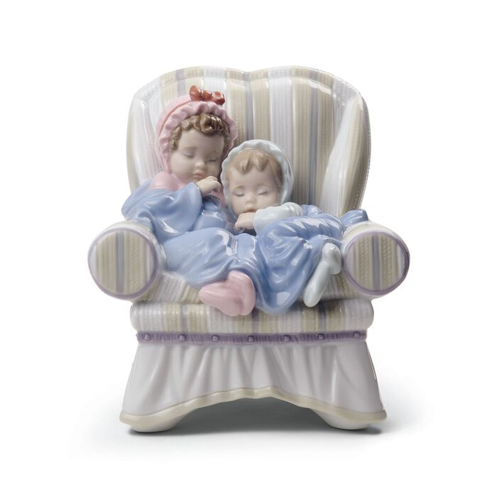 "Lladro ""My Two Little Treasures"" Porcelain Figurine"