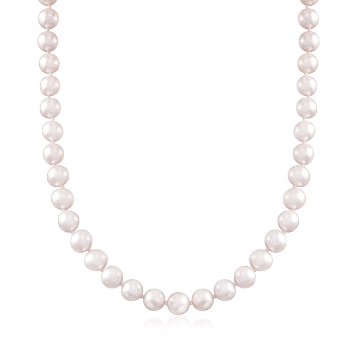 C. 1990 7-7.5mm Cultured Pearl Necklace with Sterling Silver. 17.5""
