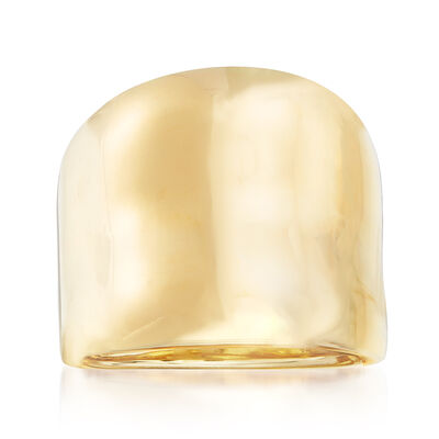 Italian 14kt Yellow Gold Wavy Ring, , default