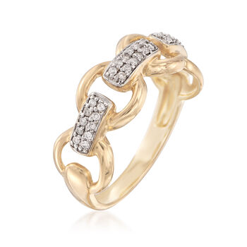 .12 ct. t.w. Diamond Circle Link Ring in 14kt Yellow Gold, , default
