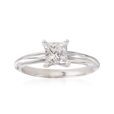 1.01 Carat Certified Diamond Solitaire Ring in Platinum