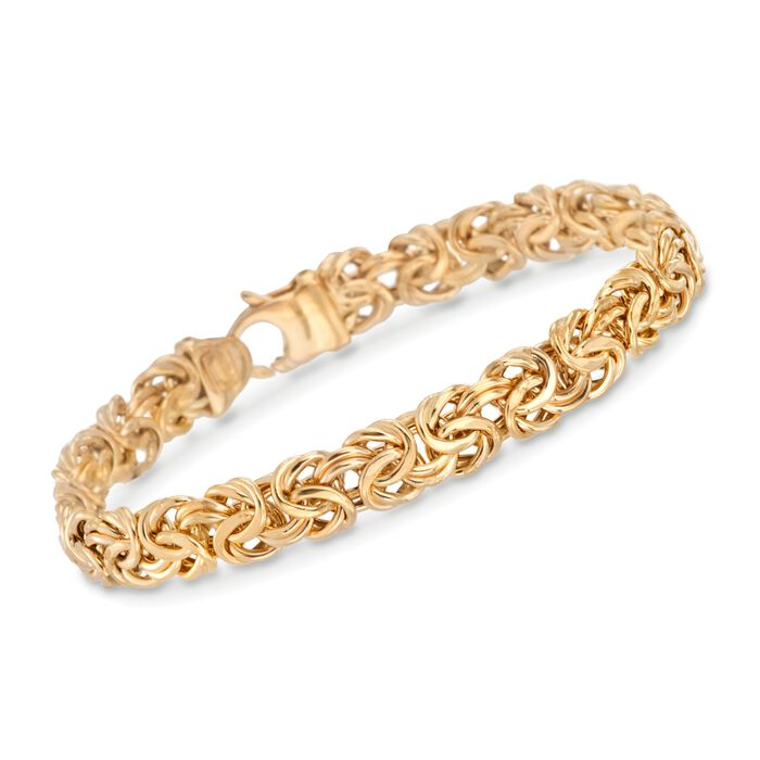 14kt Yellow Gold Byzantine Bracelet, , default