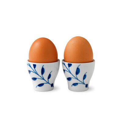 "Royal Copenhagen ""Blue Fluted Mega"" Set of 2 Porcelain Egg Cup"