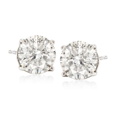 2.40 ct. t.w. Diamond Stud Earrings in Platinum, , default