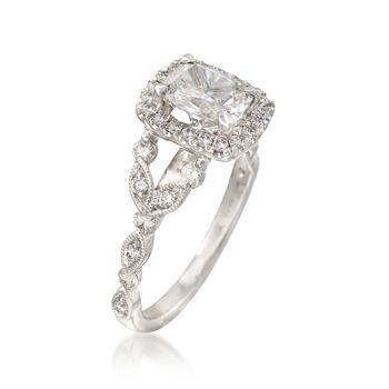 Henri Daussi 1.47 ct. t.w. Certified Diamond Engagement Ring in 18kt White Gold, , default