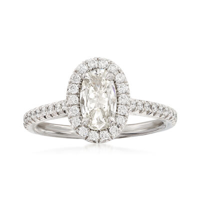 Henri Daussi 1.04 ct. t.w. Diamond Engagement Ring in 18kt White Gold, , default