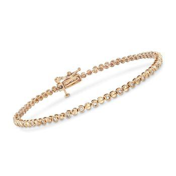 .50 ct. t.w. Bezel-Set Diamond Bracelet in 14kt Yellow Gold, , default