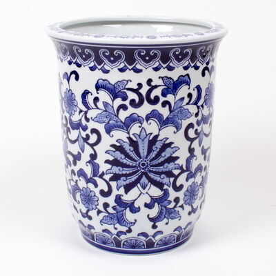 Blue Chinoiserie Large Porcelain Planter, , default