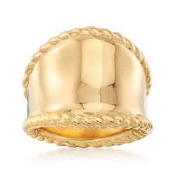 Italian Andiamo 14kt Yellow Gold Wide-Band Ring, , default
