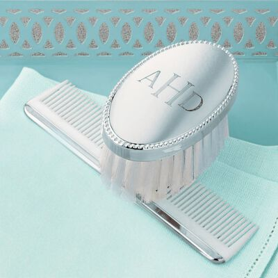 Empire Child's Personalized Sterling Silver Brush and Comb Set, , default