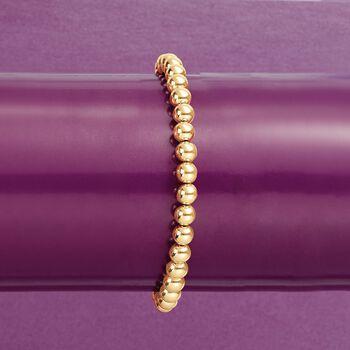 6mm 14kt Yellow Gold Bead Bracelet