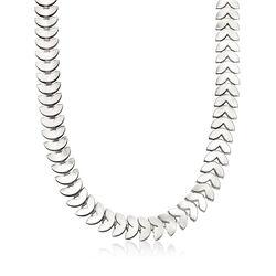 12mm Heart-Shaped Necklace in Silvertone, , default