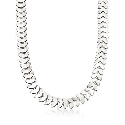 12mm Heart-Shaped Necklace in Silvertone, , default