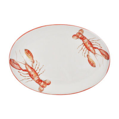 Abbiamo Tutto Italian Lobster Ceramic Oval Serving Platter, , default
