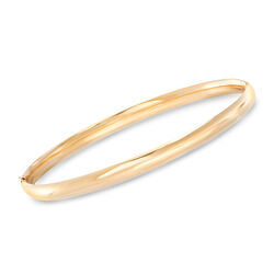5mm 14kt Yellow Gold Bangle Bracelet, , default