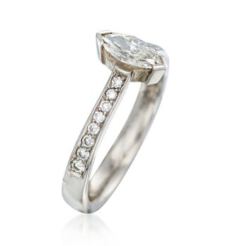C. 1980 Vintage .65 ct. t.w. Diamond Engagement Ring in 18kt White Gold. Size 6.5, , default