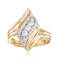 .48 ct. t.w. Diamond Sash Ring in 14kt Yellow Gold, , default