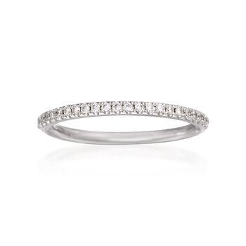 Henri Daussi .16 ct. t.w. Diamond Wedding Ring in 18kt White Gold, , default