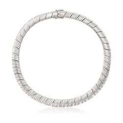 "1.00 ct. t.w. Diamond Bar Collar Necklace in Sterling Silver. 17"", , default"