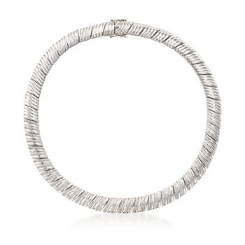 """1.00 ct. t.w. Diamond Bar Collar Necklace in Sterling Silver. 17"""", , default"""