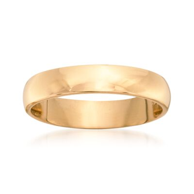 Women's 4mm 14kt Yellow Gold Wedding Ring, , default
