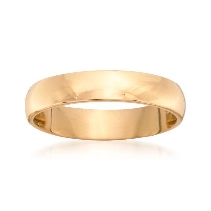 Women's 4mm 14kt Yellow Gold Wedding Ring, , default