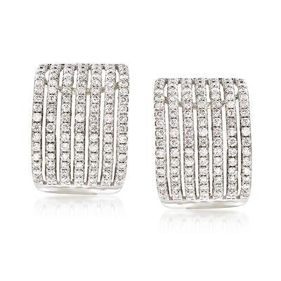 1.75 ct. t.w. Diamond Drop Earrings in 14kt White Gold , , default