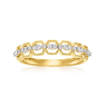 .10 ct. t.w. Diamond Geometric Ring in 14kt Yellow Gold