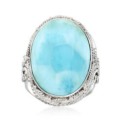 Larimar Ring in Sterling Silver, , default
