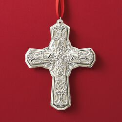 "Wallace 2018 Annual ""Grande Baroque"" Sterling Silver Cross Ornament - 23rd Edition, , default"